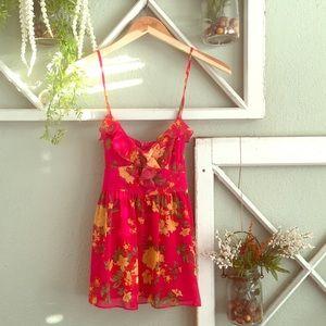 Floral chiffon top